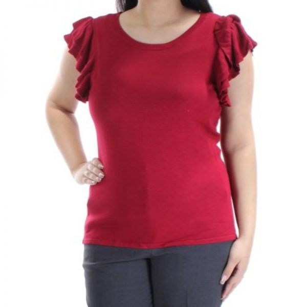 inc international concepts womens red ruffled short sleeve sweater pxl - inc international concepts womens red ruffled short sleeve sweater pet xl706256825007 1ap9 20 800x800 600x600 - INC International Concepts Womens Red Ruffled Short Sleeve Sweater PXL