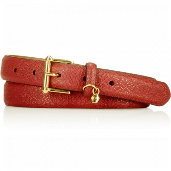 - 57 5 1 600x600 - Lauren Ralph Lauren Stingray-Embossed Belt in Auburn Retail $38.00